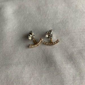 🟡2-Part Rhinestoned Earrings